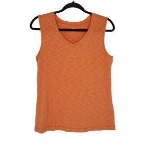 Title Nine Orange Tank Top Size M